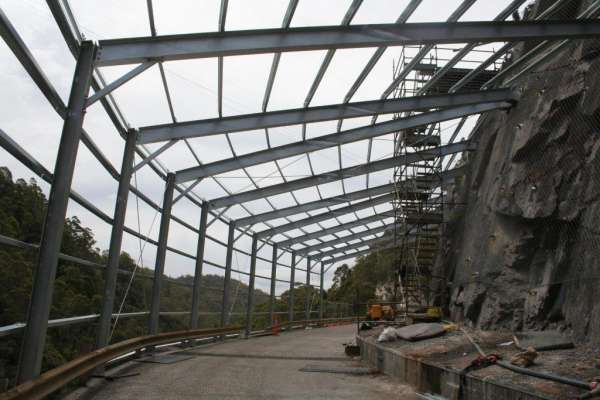 Cethana Spray Mitigation Structure Installation