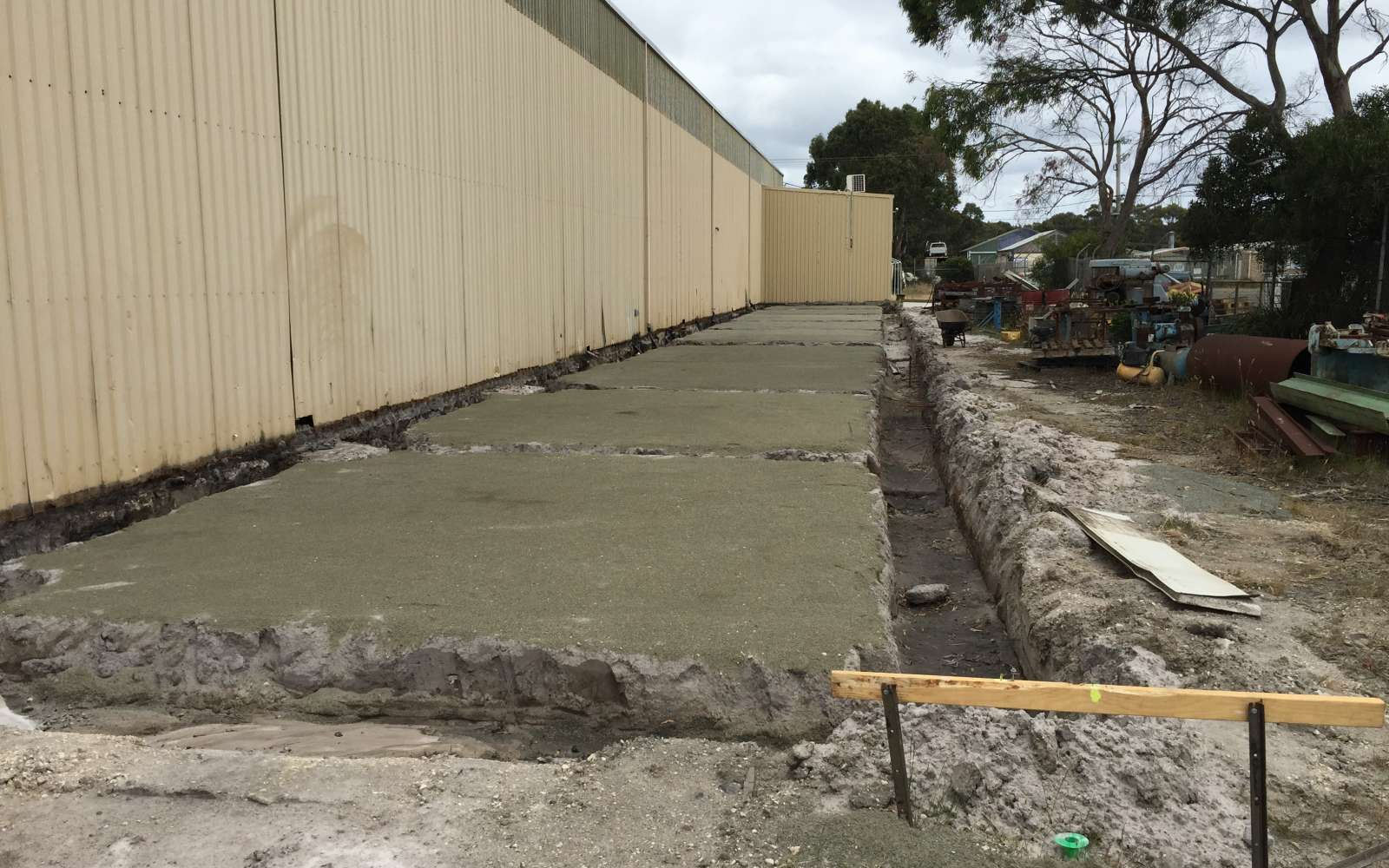 Footings done ready for steel and concrete