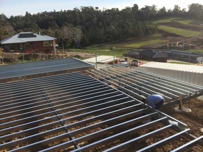 Unit development steel work