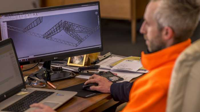 Drafting for fabricated assembly