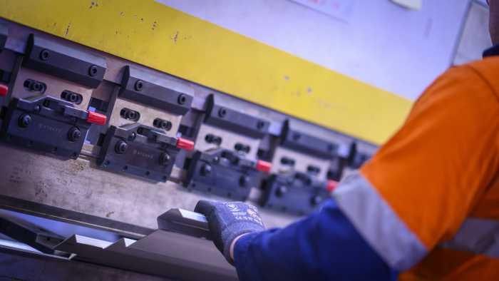 Folding parts on Brake Press